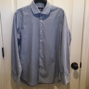 Hugo Boss Blue pinstripe shirt